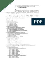 TRABAJO 2 MATERIALES EMPLEADOS EN LAS CARROCERÍAS