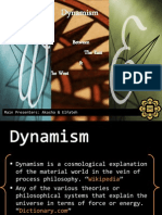 Dynamism Between the East and the West