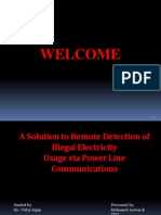 A SOLUTION TO REMOTE DETECTION OF ILLEGALELECTRICITY USAGE VIA POWER LINECOMMUNICATION