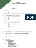 Soalan peperiksaan matematik tahun 2 kertas 1, year 2 paper 1 semester 2 2011