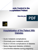 Glycemic Control Hosptialized