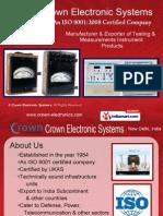Oscilloscope Crown Electronic Systems New Delhi