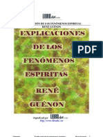 Guenon, Rene - Explicación de Los Fenómenos Espiritistas