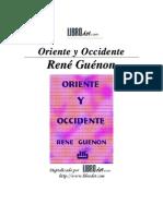 Guenon, Rene - Oriente y Occidente