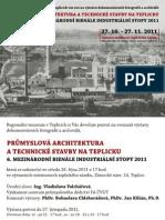 Pozvánka na výstavu Průmyslová architektura a technické stavby na Teplicku