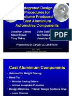 Integrated Design Procedures for Volume Produced Cast Aluminium Automotive Components