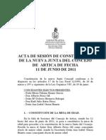 ACTA SESION CONSTITUCION 11-06-11
