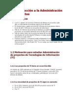 Introducción a la administración de proyectos