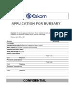 Bursary Application Eskom