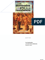 James C Scott Los Dominados y El Arte de La Resist en CIA