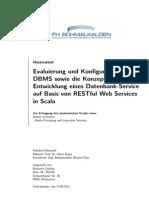 Evaluierung und Konfiguration einesDBMS sowie die Konzeption undEntwicklung eines Datenbank-Serviceauf Basis von RESTful Web Servicesin Scala
