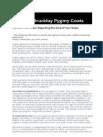 Pygmy Goat Factsheet