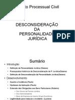 trabalho sobre DESCONSIDERAÇÃO DA PERSONALIDADE JURÍDICA atual