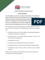 CoE UK Priorities Document