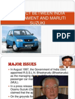 Conflict Between India Government and Maruti Suzuki