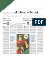 Educar y El Dilema tributario