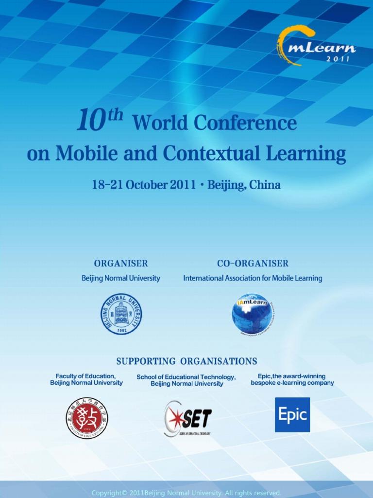 mLearn 2011 (BeiJing) Conference Proceedings | Educational ...