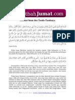 Khutbah Jumat Hakikat Iman Dan Tandanya.