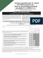 2010 -Cuestionario autoinformado de cribado del TDAH (trastorno por déficit de atenciónhiperactividad) del adulto-V1.1 (ASRS-V1.1)