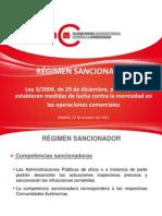 Régimen sancionador - PMcM