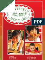 Pepperonis Saigon Menu