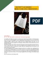 Wet Van Mozes Niet Geldig Voor Christen En