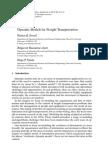 Dynamic Models for Freight Transportation