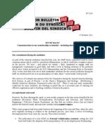 Staff Union Bulletin No.1435