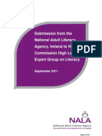 NALA Submission to High Level Expert Group on Literacy September 2011
