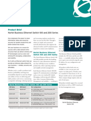 Nortel BES 220 24t-48t PWR Overview | Network Switch