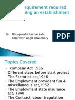 Statutory Requirement Required in Establishing an Establishment