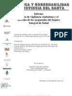Informe de Acción de vigilancia  y recomendaciones RedEG 2011