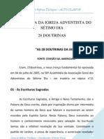 Resumo Das 28 Doutrinas Adventista