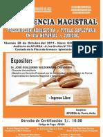 CONFERENCIA DE DERECHO NOTARIAL