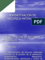 30 Admin is Trac Ion de Recurso Material
