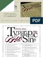 Typographic Sins