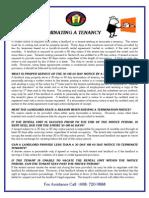 Termination of Tenancy Notices