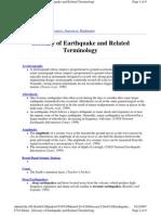 CVO Menu - Glossary of Earthquake and Related Terminology