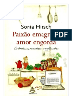 Paixão Emagrece, Amor Engorda - Sonia Hirsch