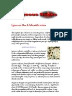 Igneous Rock Identification Exercise