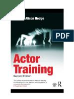Formación del actor