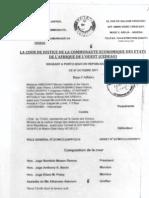 Décision CJ-CEDEAO Exclusion députés ANC
