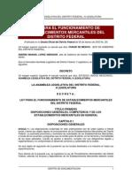 Ley Para El Funcionamiento de Establecimientos Mercantiles Del Distrito Federal