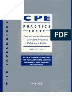 Certificate of Proficiency in English Practice Tests