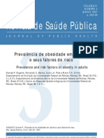 Prevalencia de Obesidade Em Adultos