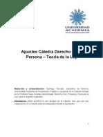 Apuntes Derecho Civil I. Prof. Hugo Ocampo
