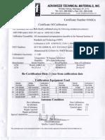 ATM Calibration Report
