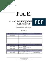 PAE - PLANO DE ATENDIMENTO A EMERGÊNCIA - PGUÁ