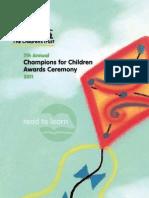 2011 Champions for Children Awards Ceremony Program Book