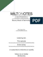 MiltOnNotes-Sound, Music & Technology